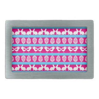 Easter pattern. Any background color Rectangular Belt Buckle