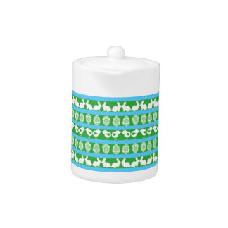 Easter pattern. Any background color Teapot