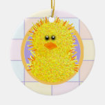 Easter Peep Double-Sided Ceramic Round Christmas Ornament