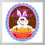 Easter Peeps Art Poster