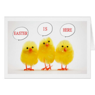 EASTER PEEPS HOPPING AND HOPING EASTER WISHES CARD