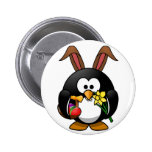 Easter Penguin 2 Inch Round Button