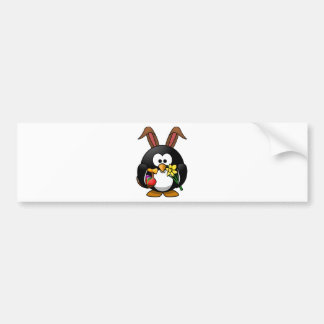 Easter Penguin Car Bumper Sticker