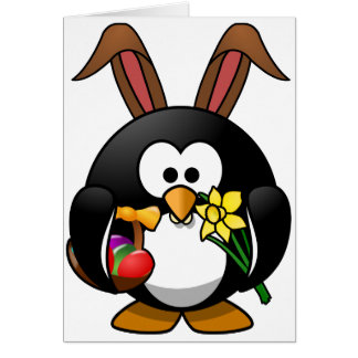 Easter Penguin Card