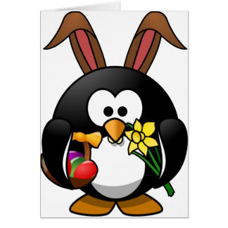 Easter Penguin Greeting Card