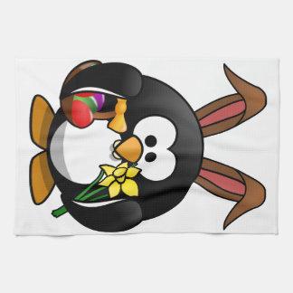 Easter Penguin Hand Towel