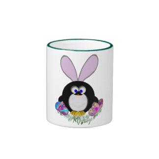 Easter Penguin Ringer Coffee Mug