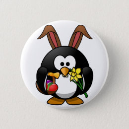 Easter penguin gifts on zazzle easter penguin pinback button negle Image collections
