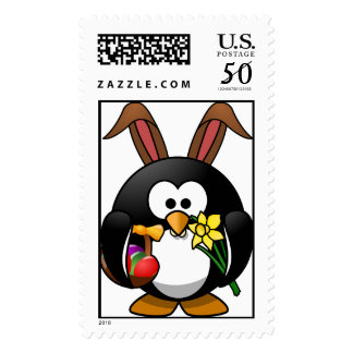 Easter penguin gifts on zazzle easter penguin postage negle Images
