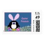 Easter Penguin Postage Stamp