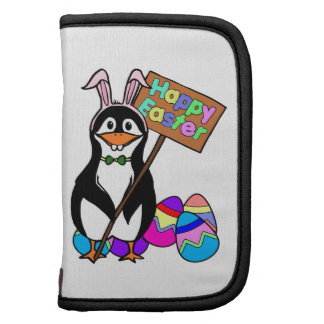 Easter Penguin with Colored Eggs Planner