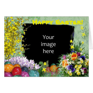 Easter photo frame greeting card
