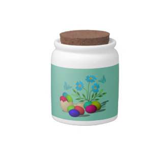Easter picture candy jars