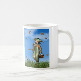 Easter Pierrot Clown Doll with Butterflies Coffee Mug
