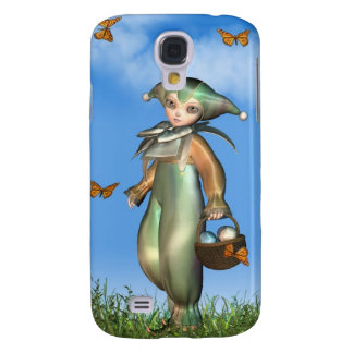 Easter Pierrot Clown Doll with Butterflies Galaxy S4 Case
