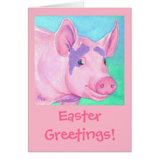 "Easter Pig Card - ""This Little Piggy"""