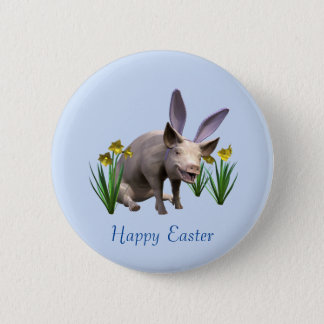 Easter Pig Pinback Button