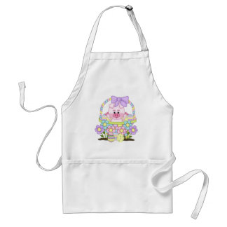 Easter Piggy Adult Apron
