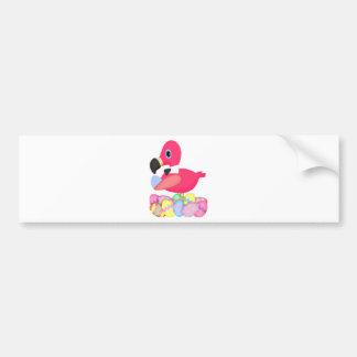 Easter Pink Flamingo Bowtie Bumper Sticker