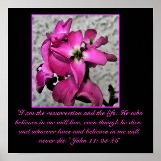 Easter pink floral print