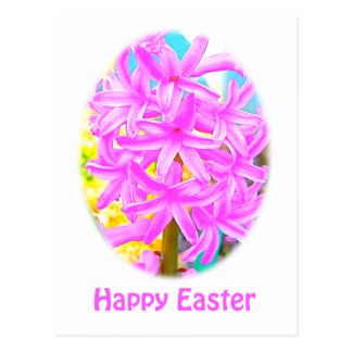 Easter Pink Hyacinth Cards, Shirts & Gifts Postcard