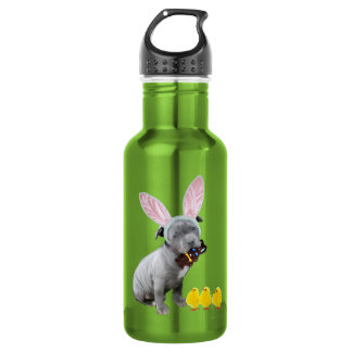Easter Pitbull.png Stainless Steel Water Bottle
