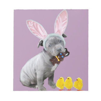 Easter Pitbull puppy dog Notepad