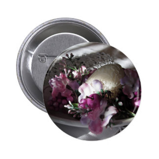 Easter place setting pinback button