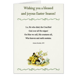 Easter Poems and Prayers – Chick Chicks Bunny Card