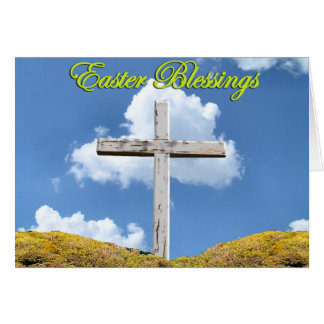 Easter Poems and Prayers – Crucifixion Cross Greeting Card