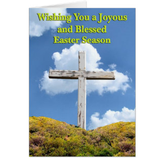 Easter Poems and Prayers – Crucifixion Cross Card