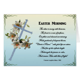 Easter Poems and Prayers – Easter Lily Lilies Card