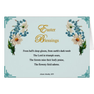 Easter Poems and Prayers – Fields of Flowers Greeting Card