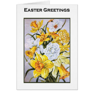 Easter Poems and Prayers – Narcissus Greeting Card