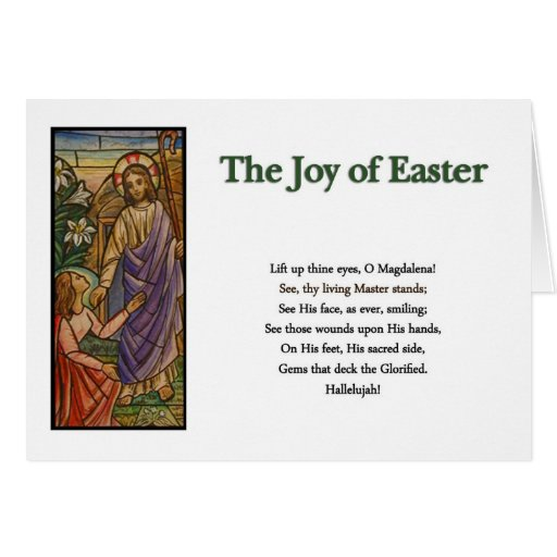 Easter Poems and Prayers – Risen Christ with Mary Greeting ...