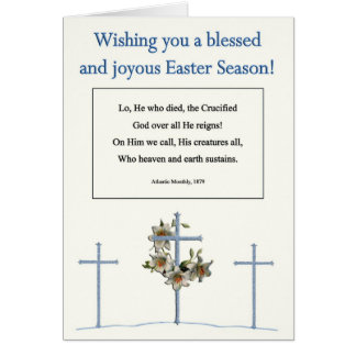 Easter Poems and Prayers – Three Crosses Flowers Card