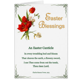 Easter Poems and Prayers – Tulips Card