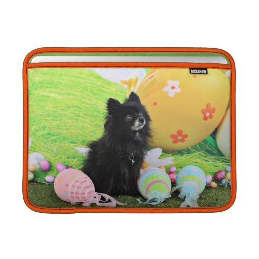Easter - Pomeranian - Bear MacBook Sleeve
