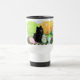 Easter - Pomeranian - Bear 15 Oz Stainless Steel Travel Mug