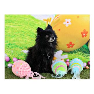 Easter - Pomeranian - Bear Postcard