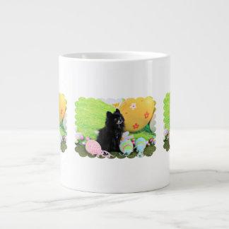 Easter - Pomeranian - Bear 20 Oz Large Ceramic Coffee Mug