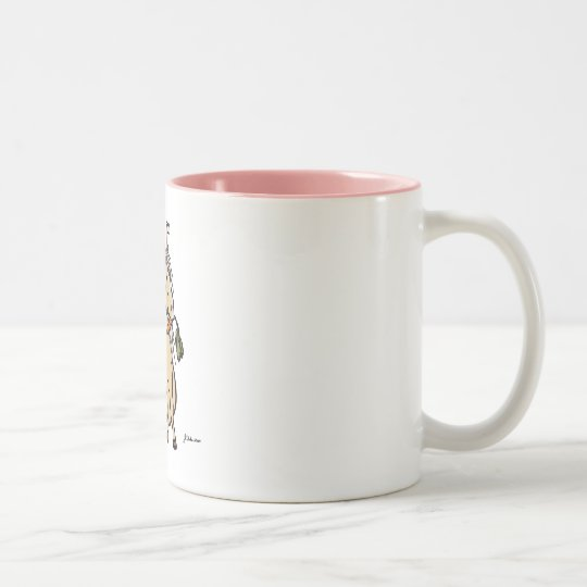 Easter Pony Two-Tone Coffee Mug