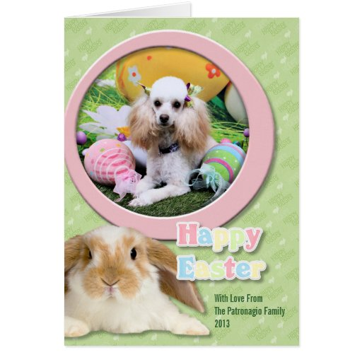 Easter - Poodle - Dolly Card