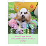 Easter - Poodle - Dolly Greeting Cards