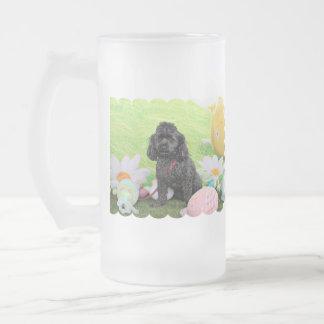 Easter - Poodle - Junior 16 Oz Frosted Glass Beer Mug