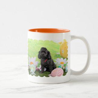 Easter - Poodle - Junior Two-Tone Coffee Mug