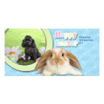 Easter - Poodle - Junior Personalized Photo Card