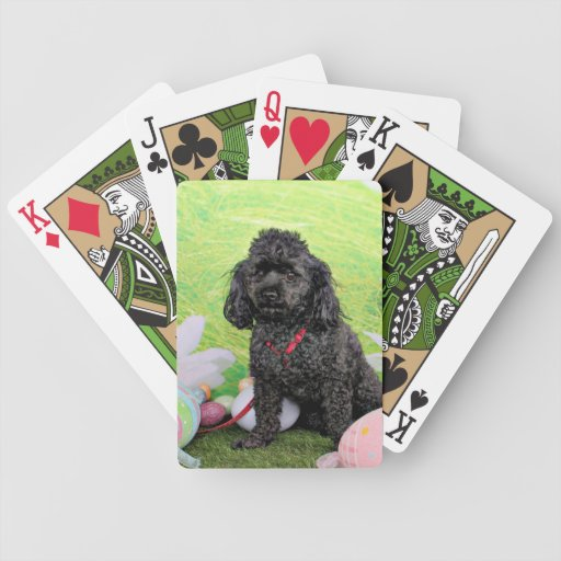 Easter - Poodle - Junior Playing Cards