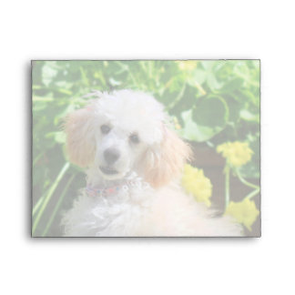 Easter Poodle puppy notecard envelopes