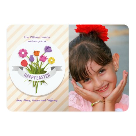Easter Posies Photo Greeting Card